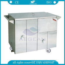 La nourriture plus chaude d'acier inoxydable d'AG-SS035D a mis le chariot médical médical de clinique