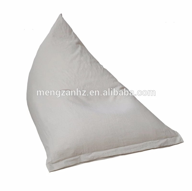 Indoor leisure triangle bean bag adult large bean bag chairs