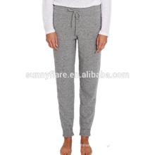 Mulheres na moda, cashmere puro, malha, super quente, calças soltas