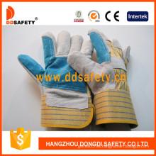 Caliente-venta Guantes partido de la vaca, guantes de cuero (DLC323)