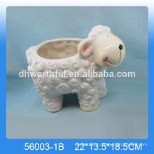 Прекрасный керамический овечье цветочное плантатор, животно-керамический садовый плантатор