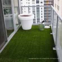 Césped artificial de alta densidad de jardinería ornamental para adornos de jardín