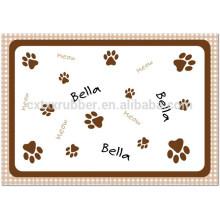 printing cat feeding mat, cat ped mat
