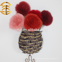 Neu kommen Real Rex Kaninchen Pelz Blume Schuh Leder Blumen Tier Pelz Rose Blume