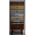 vintage industrial modern chest of drawer