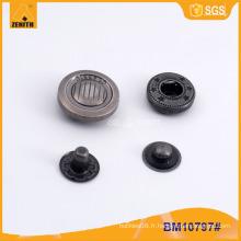 Boutons Snap en forme de bouchon en alliage de zinc BM10797