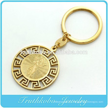 TKB-K0003 en acier inoxydable Vintage religieux SHALOM porte-clés en métal porte-clés