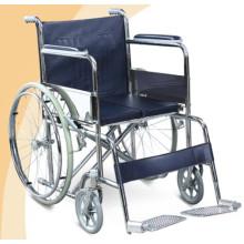 Silla de ruedas manual de acero cromado FS810Y