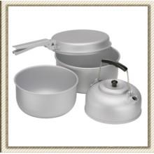 Picnic al aire libre Camping Cookware de aluminio Set de (CL2C-DT1915-4)