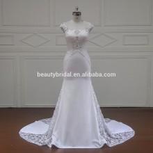 XF16081 круглым вырезом свадебное платье с роскошной бисером на бюст
