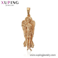 33628 xuping God with wings and weapons figure statue gold pendant designs