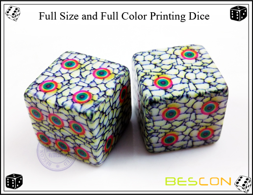 Full Size and Full Color Printing Dice