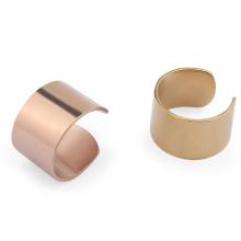 Simple Metal Stainless Steel Plain Ear Cuff Wrap Clip Earring No Piercing