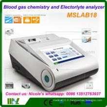 Equipements de laboratoire analyseur de gaz sanguin portatif / analyseur de gaz sanguin et d'électrolyte MSLAB18i