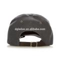 Verstellbare schwarze Lederrückenriemen Papa Hut Cap benutzerdefinierte Baseball Caps