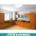 Armário de cozinha personalizado da madeira maciça da teca do produto caritativo (AIS-K445)
