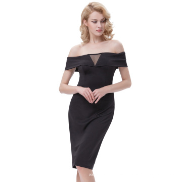 Kate Kasin Sexy Women's Off-the-shoulder Hips-Wrapped Bodycon Pencil Dress KK000613-1