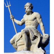 griechische Mythos Figur Poseidon große Outdoor-Steinstatuen der Götter