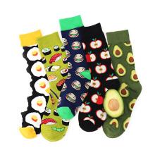 2019 Women Fruits Food Crew Socks With Doughnut Hamburgers Banana Pineapple Avocado Pattern Design Ankle Socks