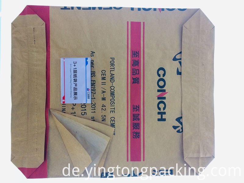 3+1 Plastic Liner Kraft Paper Valve Cement bag