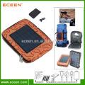Sac de randonnée solaire design portatif, sac de sport solaire avec batterie 2200mah