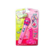 Micrófono plástico del juguete musical de la emulación con el tenedor