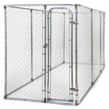 Hot Dip Galvanized Dog Fence PVC Powder Coated Dog Kennel Welded Wire Mesh Chain Link Fence Metal Dog For USA AUS Market