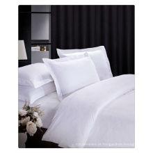 200-400T algodão egípcio roupa de cama branca pura
