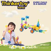 Детская пластиковая игра-головоломка, интеллектуальная игрушка из кирпича для строительства