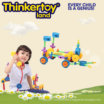 Kinder Plastik Puzzle Spiel, Intellektuelle Gebäude Ziegel Spielzeug
