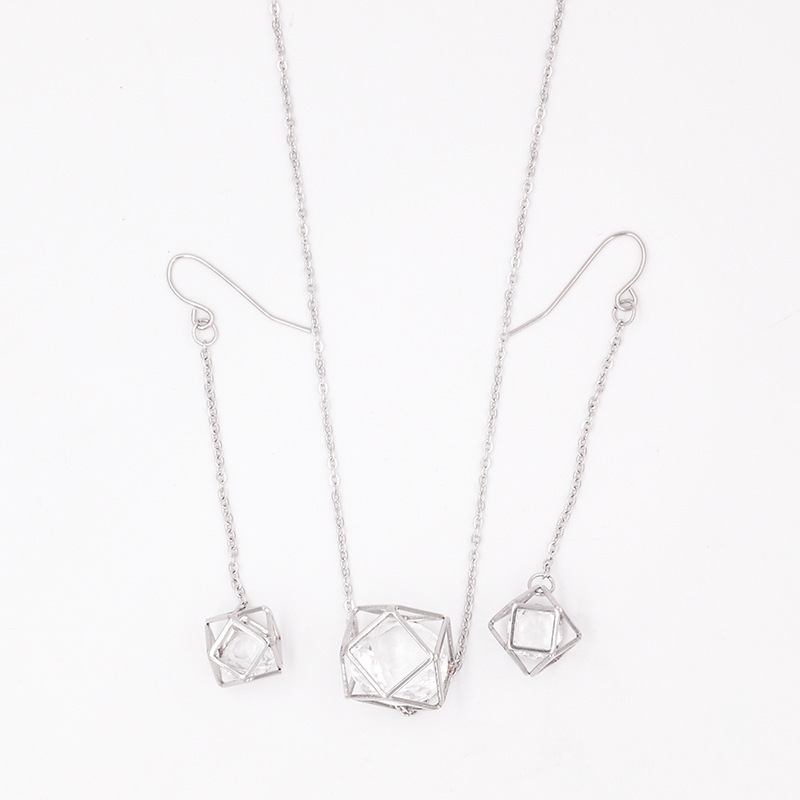 Stainless Steel Jewelry Necklace And Earrings Sets