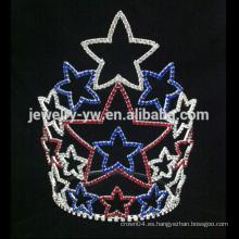 Las últimas coronas cristalinas de la tiaras de la estrella del rhinestone para la muchacha