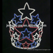 Últimas Crystal tiaras estrela rhinestone coroa para a menina