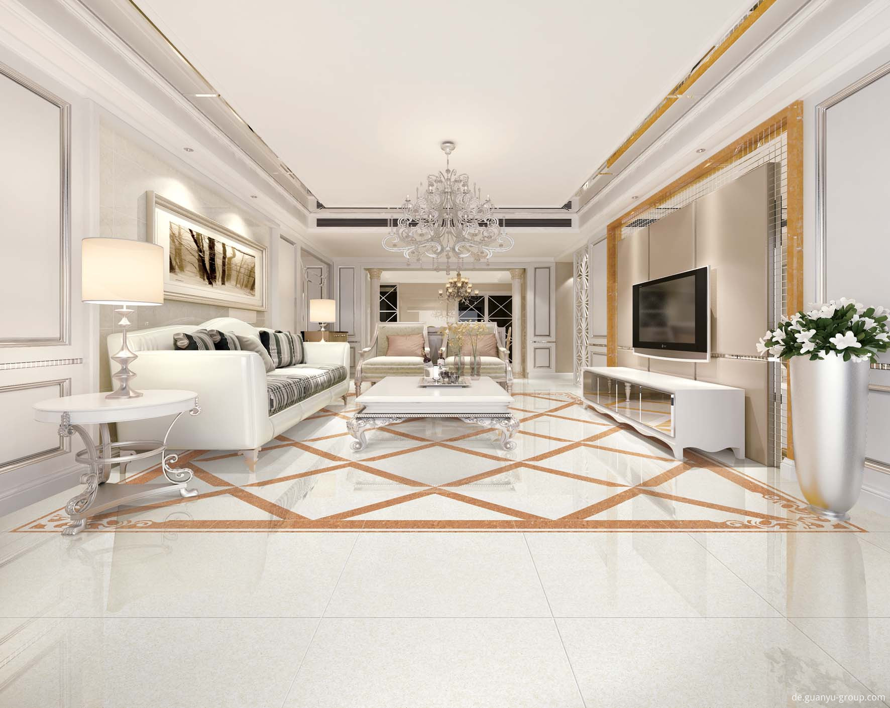 Luxury Microcrystal Polished Porcelain Tile
