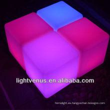 Cambio de Color de RGB led cubo silla decorativas led taburetes de barra de bar