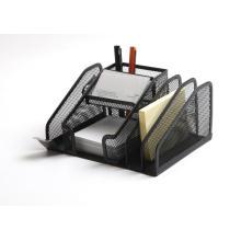 Support de papeterie de bureau multifonctionnel en maille métallique