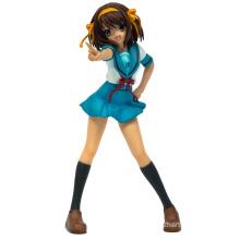 Plastik Bowknot Sexy Mädchen PVC Figur (ZB-03)
