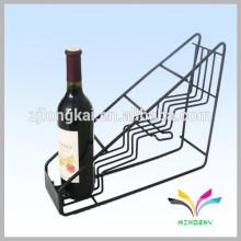 Estante de exhibición antiguo de la botella del licor de la tapa de tabla del metal de la alta calidad