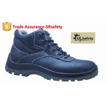 SRSAFETY high quality emboss cow split leather working safety shoes high heel steel toe safety shoes