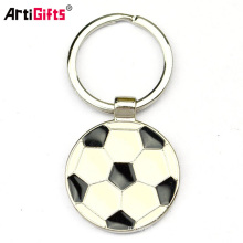 Wholesale promotion custom cheap metal keychain with soccer sketch printing