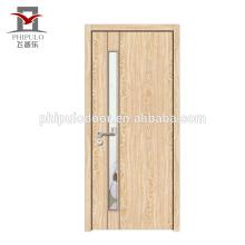 Puerta de madera maciza de dormitorio de diseño único.
