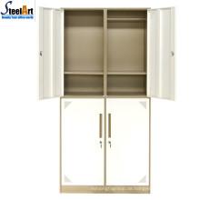 Hochwertiger Kleiderschrank aus Metall für Schlafzimmer mit vier Türen