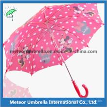 19inches Straight Automatic Open Printing Cute Children Umbrella