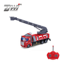 DWI 1:48 New remote control 4ch rc car engine rescue fighting plastic fire truck toys