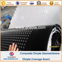 Geomembrana del hoyuelo del HDPE para la pared del sótano