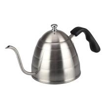 Гусиная шея наливает кофе или чайный чайник