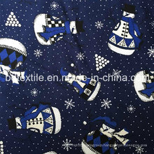 Snowman Design Cotton Reactive Printing Fabric
