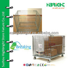 steel wire mesh roll container