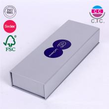 neues design silber cardboad papier pencil box