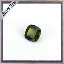 Pedra de diopside natural vívida verde-oliva Top Grade